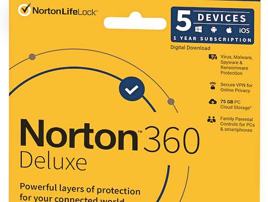 Norton 360 Deluxe - 5 user pack