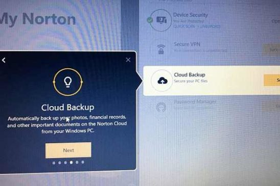 Norton 360's Cloud Backup feature