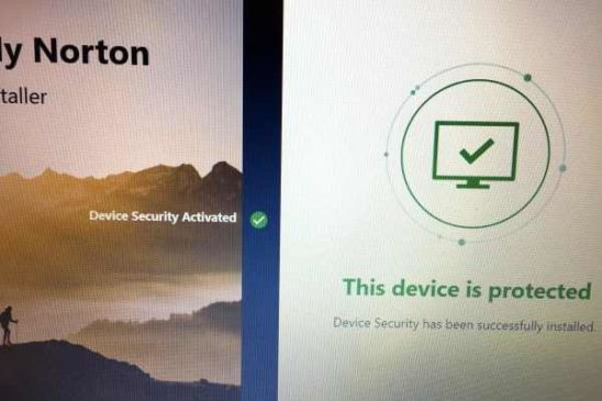 Norton 360 protects the device
