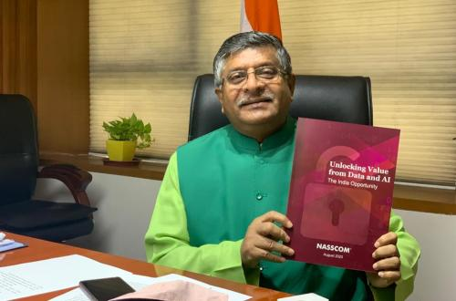 Ravi Shankar Prasad,  Minister of Electronics and IT released the Nasscom report