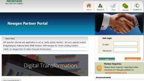 Newgen Partner Portal